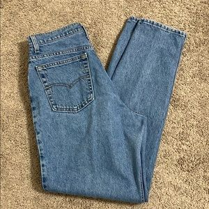 Levis 551 Relaxed Fit Tapered Leg Mom Jean Sz 14 L